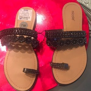 Rhinestone sandals! Nicole size 7! New with tags